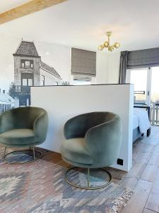A seating area at Boutique hotel Hippe Hendrik