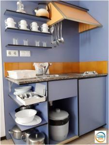 Een keuken of kitchenette bij Apartments Lloret Sun