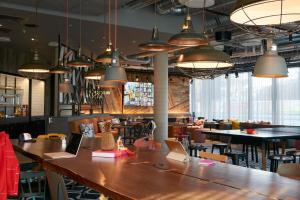 A restaurant or other place to eat at Moxy Slough