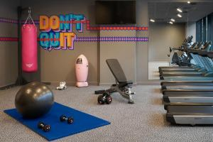 The fitness center and/or fitness facilities at Moxy Slough
