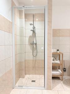 Koupelna v ubytování Penzion Zelený Háj