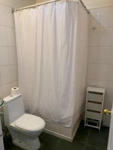 A bathroom at Hotel Sauken