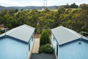 A bird's-eye view of Discovery Parks - Hobart