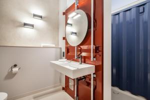 A bathroom at Hotel Die Reederin