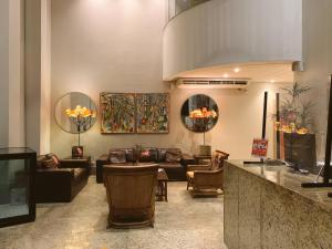 The lobby or reception area at America Towers Hotel