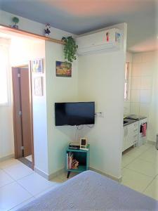A television and/or entertainment center at Meu Apê Maringá - UEM - Perto de tudo!