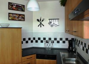 Kuchyň nebo kuchyňský kout v ubytování Apartmán Velké Losiny