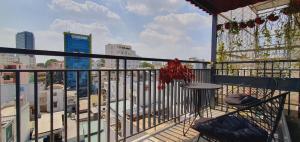 A balcony or terrace at Gemini Saigon