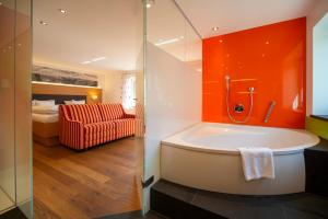 Ein Badezimmer in der Unterkunft Hotel Bellevue