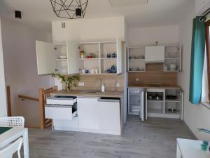 Kuchnia lub aneks kuchenny w obiekcie Słoneczna Sarbinówka