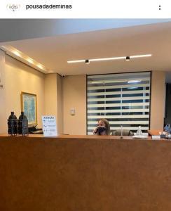 Лобби или стойка регистрации в Hotel Pousada de Minas