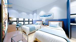 A bed or beds in a room at Ceylonz KLCC by Perfect Host