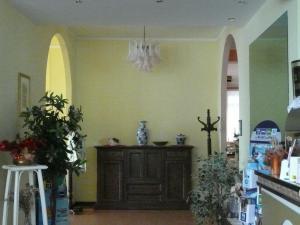 The lobby or reception area at Albergo Tenda Verde
