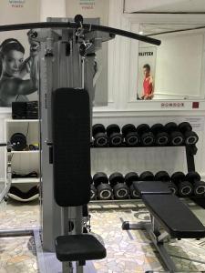 Fitness centrum a/nebo fitness zařízení v ubytování Hotel Berg