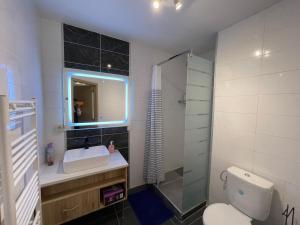 A bathroom at Gîtes Sax 1