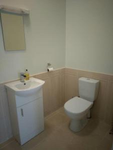 A bathroom at 59 Riverun