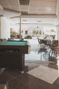 A billiards table at Hotel Orion
