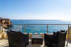 Een algemene foto of uitzicht op zee vanuit het pension