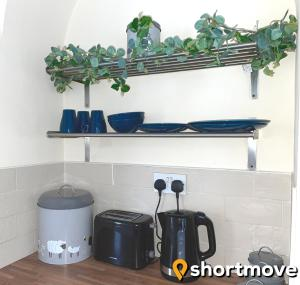 A kitchen or kitchenette at SHORTMOVE -Large Self Contained Apartment, Wifi, Smart TV