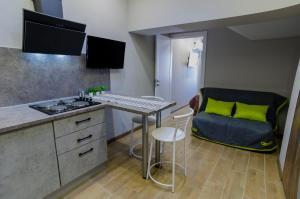 A kitchen or kitchenette at Studio in Gelendzhik