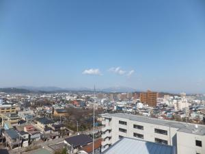 A general view of Akita or a view of the city taken from the hotel