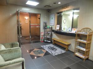 The lobby or reception area at Hotel Alpha Inn Akita