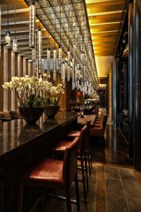 The lounge or bar area at The Chedi Andermatt