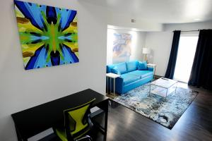 A seating area at Z Loft Extended Stay Hotel