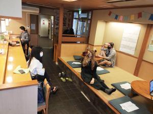 Guests staying at Osaka Hana Hostel