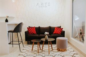 A seating area at Arte Mont Kiara Luxury Suite