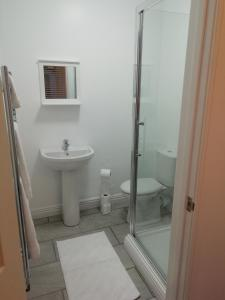 A bathroom at The Antelope Hotel