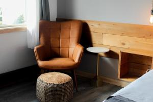 A seating area at Adrift Hotel