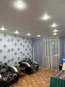 Гостиная зона в Apartment on Leningradskiy 1