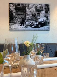 A restaurant or other place to eat at Landhotel Jagdschlösschen