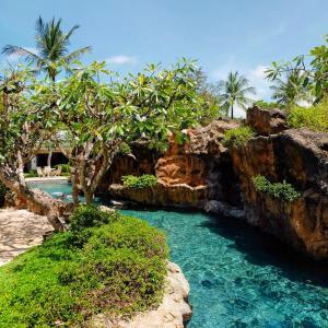 A garden outside Grand Hyatt Bali