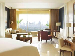 A seating area at Raffles Dubai