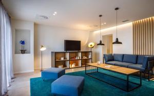 A seating area at Hotel Mediteran - Liburnia