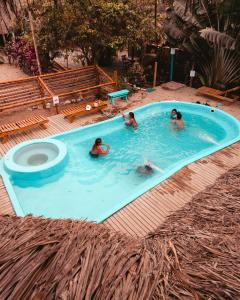 A view of the pool at El Zoo Hostel, Bar & Pool or nearby