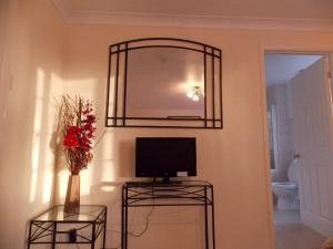 A television and/or entertainment center at Da Vinci Guest House