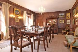 A restaurant or other place to eat at Historic Fairytale Lickleyhead Castle