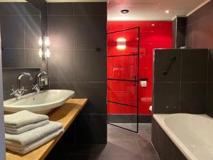 Een badkamer bij B&B Hoeve de Haar