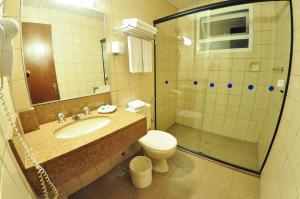 Um banheiro em Ritter Hotéis
