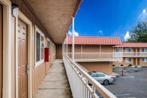 A balcony or terrace at Americas Best Value Inn - Ukiah