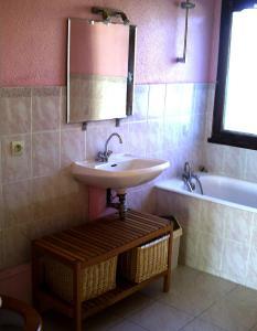Salle de bains dans l'établissement Domaine de Monadière