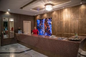 The lobby or reception area at Alma Hotel