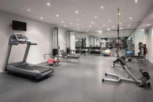 The fitness center and/or fitness facilities at Scandic Hønefoss