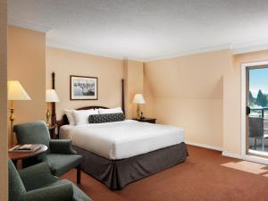 Cama ou camas em um quarto em Hotel Grand Pacific
