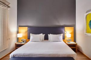 Cama o camas de una habitación en Hotel Silken Indautxu