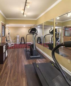 The fitness center and/or fitness facilities at Peacock Suites