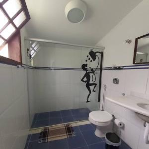 A bathroom at Pousada Solar dos Vieiras